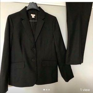 J. Crew Petite Black Suit